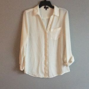The Limited cream colored blouse